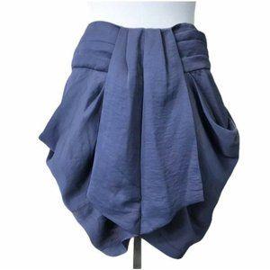 Blaque Label Gray Draped Zipper Mini Skirt ®